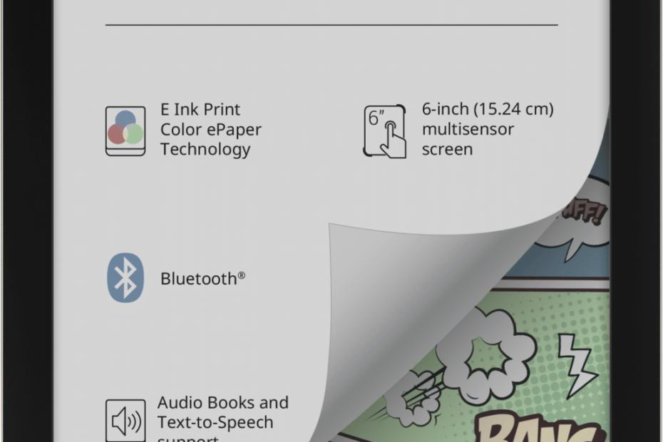 PocketBook Color - liseuse 6 pouces avec écran couleur!